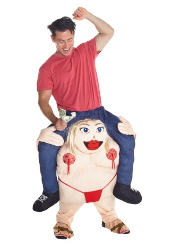 Stripper Piggyback Men's Costume