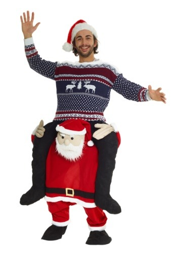 Click Here to buy Santa Piggyback Costume for Adults from HalloweenCostumes, CDN Funds & Shipping