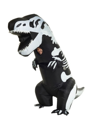 Click Here to buy Inflatable Skeleton T-Rex Costume for Adult from HalloweenCostumes, CDN Funds & Shipping