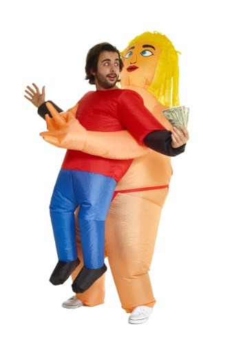 Pick Me Up Stripper Inflatable Costume for Men