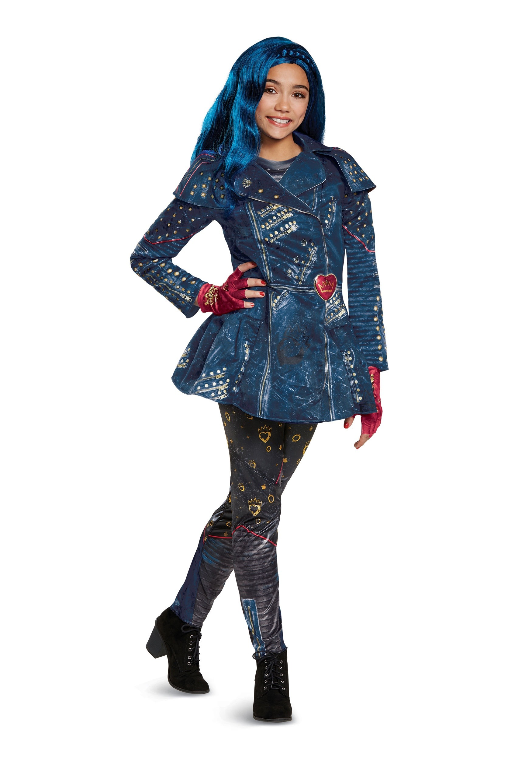 Girls Evie Deluxe Costume From Descendants 2