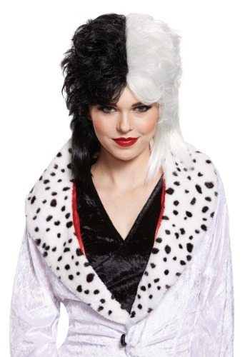 Click Here to buy Cruella De Vil Deluxe Wig for Women from HalloweenCostumes, CDN Funds & Shipping