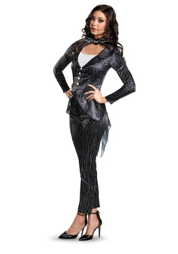 Click Here to buy Jack Skellington Womens Deluxe Costume from HalloweenCostumes, CDN Funds & Shipping