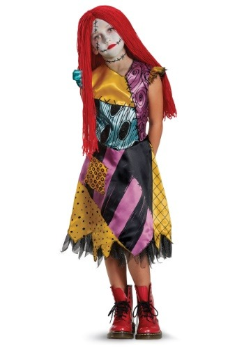 Click Here to buy Sally Deluxe Girls Costume from HalloweenCostumes, CDN Funds & Shipping