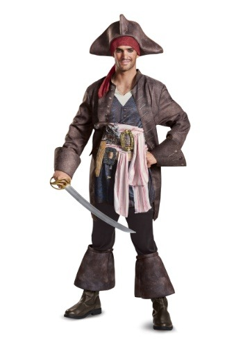 Click Here to buy Captain Jack Sparrow Deluxe Mens Costume from HalloweenCostumes, CDN Funds & Shipping