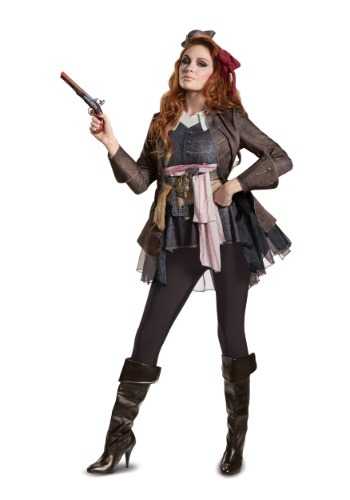 Click Here to buy Captain Jack Sparrow Deluxe costume for Women from HalloweenCostumes, CDN Funds & Shipping