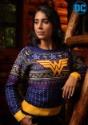 Wonder Woman Navy Womens Holiday Sweater