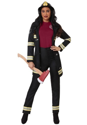 Women's Black Firefighter Costume