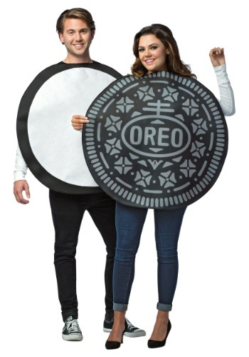 Click Here to buy Adult Oreo Cookie Costume for Couples from HalloweenCostumes, CDN Funds & Shipping