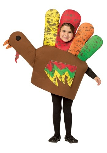 Click Here to buy Hand Turkey Kids Costume from HalloweenCostumes, CDN Funds & Shipping
