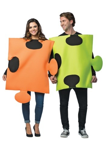 Click Here to buy Puzzle Pieces Costume for Couples from HalloweenCostumes, CDN Funds & Shipping
