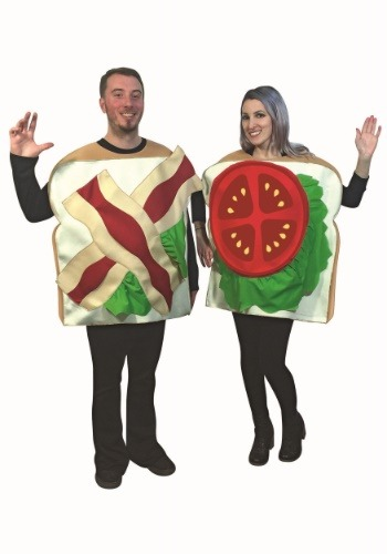 Click Here to buy BLT Sandwich Couples Costume for Adults from HalloweenCostumes, CDN Funds & Shipping
