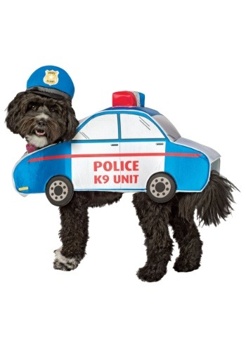 Click Here to buy K-9 Police Car Costume for Dogs from HalloweenCostumes, CDN Funds & Shipping