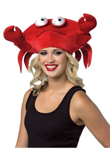 Click Here to buy Crab Hat for Adults from HalloweenCostumes, CDN Funds & Shipping