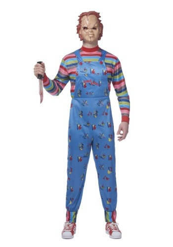 Click Here to buy Chucky Plus Size Mens Costume from HalloweenCostumes, CDN Funds & Shipping