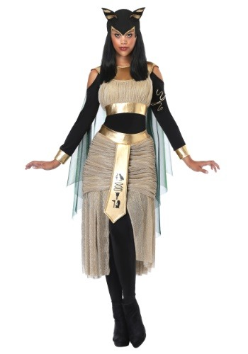 Click Here to buy Egyptian Goddess Bastet Womens Costume from HalloweenCostumes, CDN Funds & Shipping