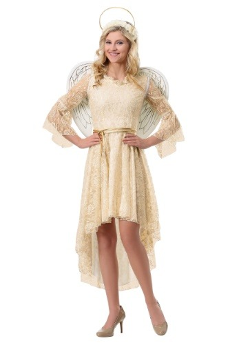Click Here to buy Lace Angel Womens Costume from HalloweenCostumes, CDN Funds & Shipping