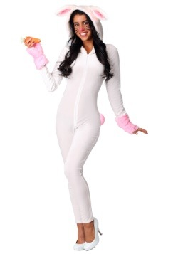 Women's Fuzzy White Rabbit