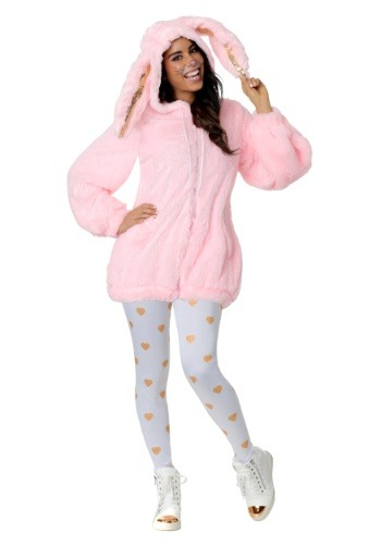 Click Here to buy Fuzzy Pink Bunny Womens Costume from HalloweenCostumes, CDN Funds & Shipping