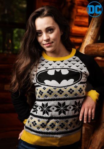 Batman Womens Holiday Sweater