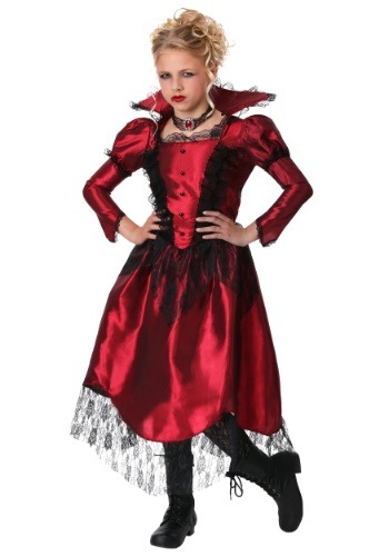 Click Here to buy Classic Vampire Girls Costume from HalloweenCostumes, CDN Funds & Shipping