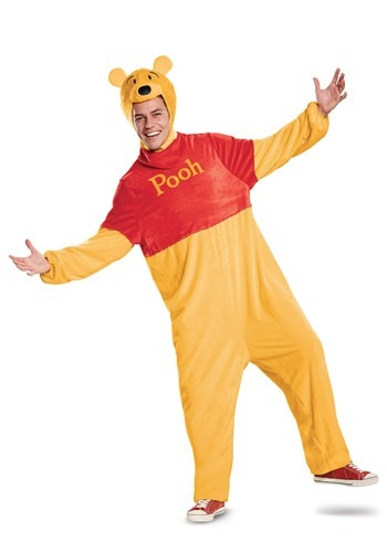Click Here to buy Winnie the Pooh Deluxe Costume for Adults from HalloweenCostumes, CDN Funds & Shipping