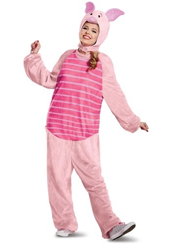 Click Here to buy Winnie the Pooh Piglet Deluxe Costume for Adults from HalloweenCostumes, CDN Funds & Shipping