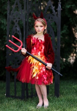 Girls Red Jacket Devil Costume
