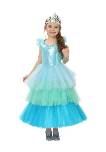 Aquamarine Princess Girls Costume