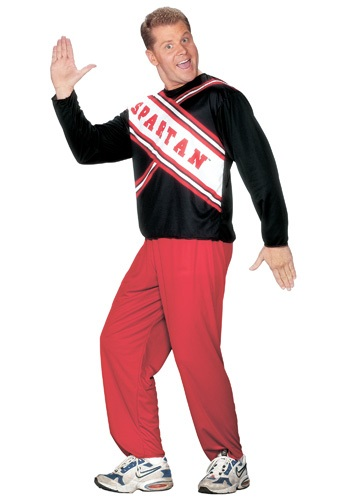 Click Here to buy Mens Spartan Cheerleader Costume from HalloweenCostumes, CDN Funds & Shipping