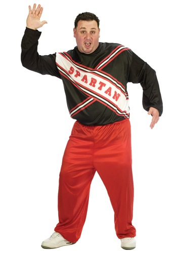 Click Here to buy Plus Size Spartan Cheerleader Costume from HalloweenCostumes, CDN Funds & Shipping