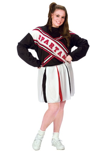 Click Here to buy Plus Size Female Spartan Cheerleader Costume from HalloweenCostumes, CDN Funds & Shipping