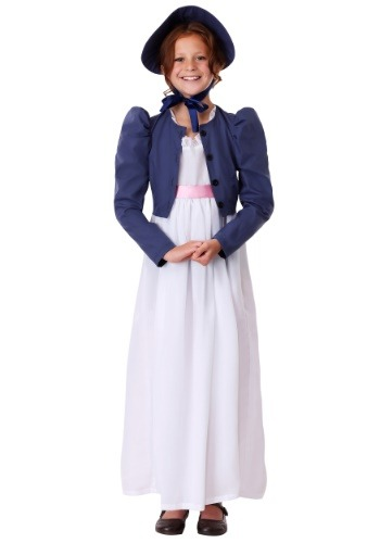 Click Here to buy Girls Jane Austen Costume from HalloweenCostumes, CDN Funds & Shipping