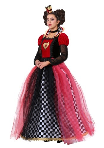 Click Here to buy Ravishing Queen of Hearts Womens Costume from HalloweenCostumes, CDN Funds & Shipping