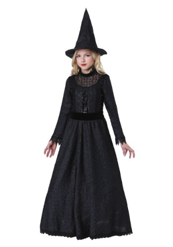 Click Here to buy Deluxe Dark Witch Girls Costume from HalloweenCostumes, CDN Funds & Shipping