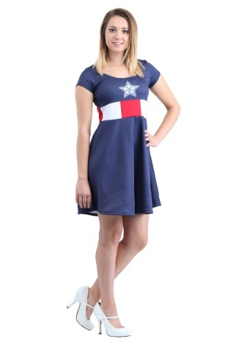 Click Here to buy Captain America Marvel Costume Dress from HalloweenCostumes, CDN Funds & Shipping