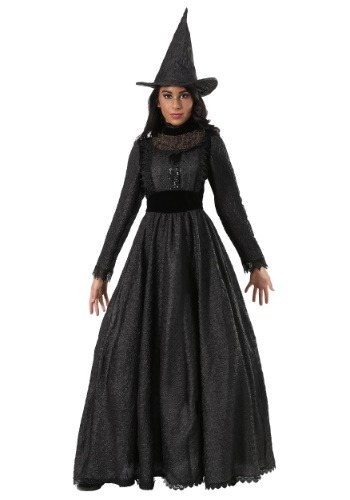 Deluxe Plus Size Dark Witch Costume for Women