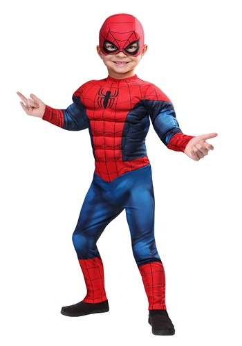 Click Here to buy Marvel Spider-Man Costume for Toddlers from HalloweenCostumes, CDN Funds & Shipping