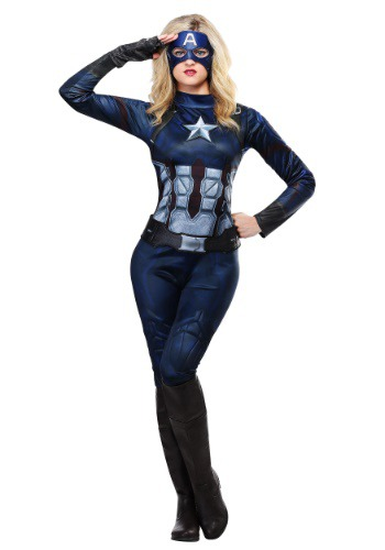 Click Here to buy Captain America Womens Costume from HalloweenCostumes, CDN Funds & Shipping