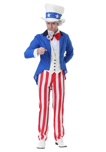 Click Here to buy Classic Uncle Sam Mens Costume from HalloweenCostumes, CDN Funds & Shipping