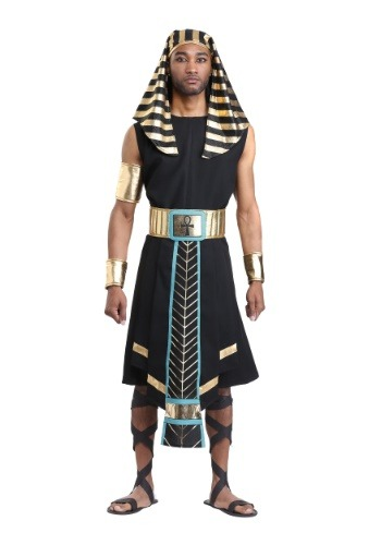 Click Here to buy Dark Egyptian Pharaoh Mens Costume from HalloweenCostumes, CDN Funds & Shipping