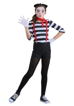 Girl's Mime Costume