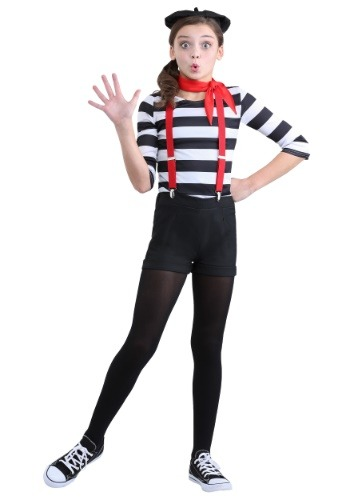 Mime Costume for Girls