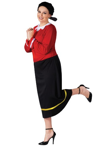 Click Here to buy Plus Size Olive Oyl Costume from HalloweenCostumes, CDN Funds & Shipping