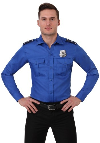 TSA Agent Blue Long sleeved Costume Shirt