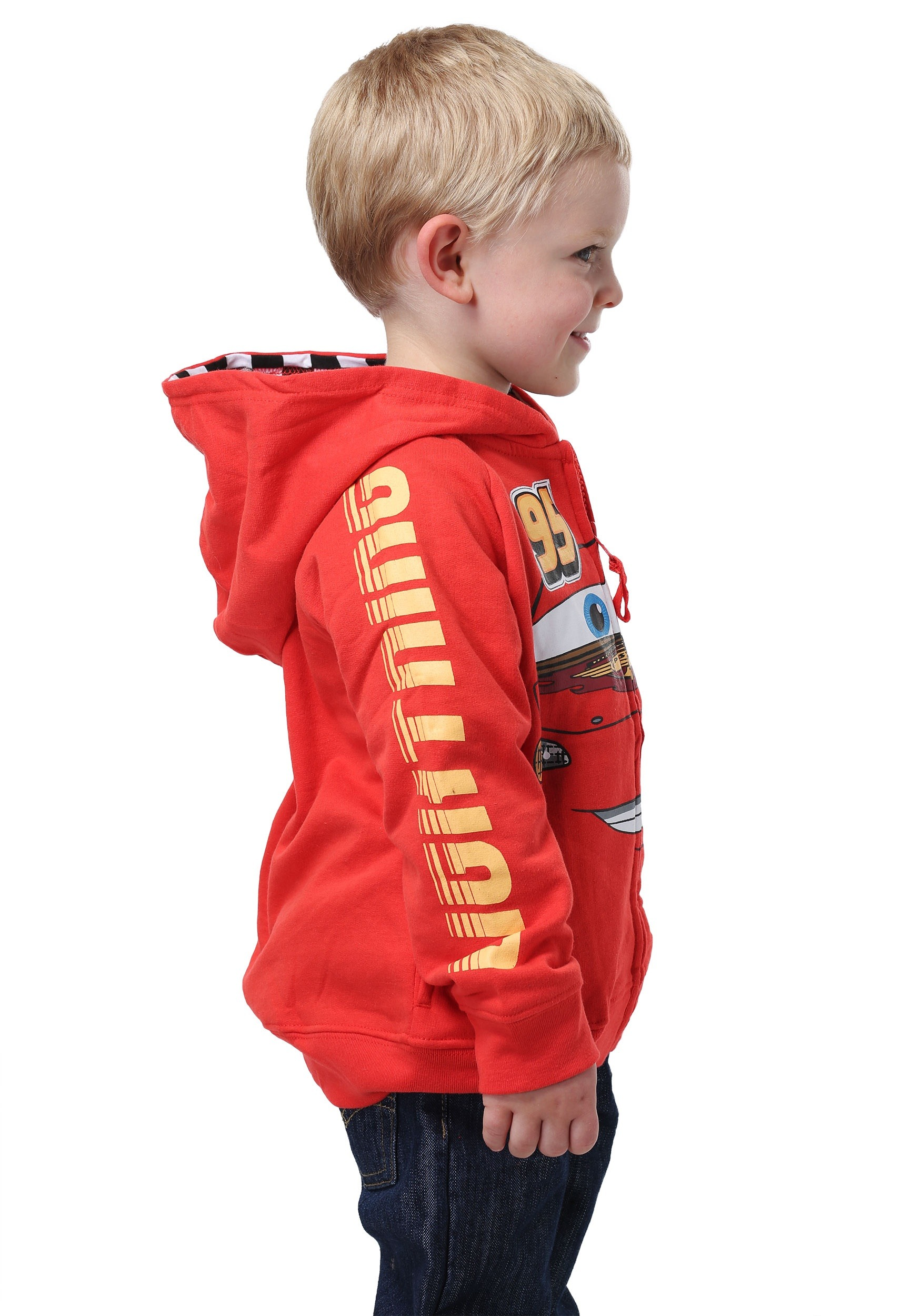... Disney Cars Lightning McQueen Kids Costume Hoodie  sc 1 st  Halloween Costumes & Disney Cars Lightning McQueen Costume Hoodie for Kids