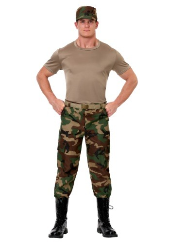 Click Here to buy Mens Camo Soldier Costume from HalloweenCostumes, CDN Funds & Shipping
