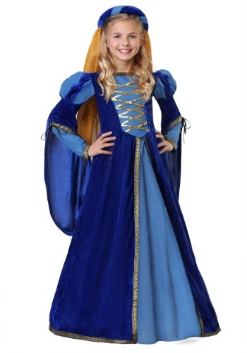 Click Here to buy Renaissance Queen Girls Costume from HalloweenCostumes, CDN Funds & Shipping