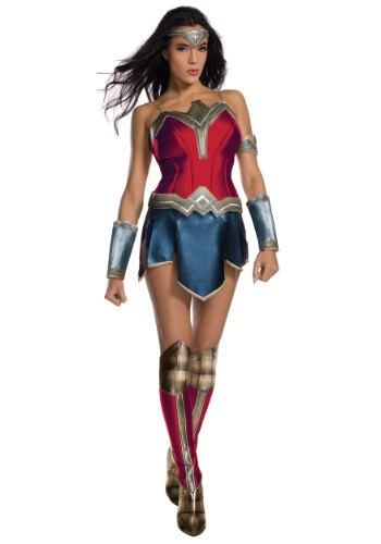 Click Here to buy Justice League Adult Deluxe Wonder Woman Costume from HalloweenCostumes, CDN Funds & Shipping
