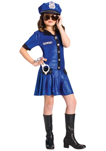 Girls Blue Police Officer Costume